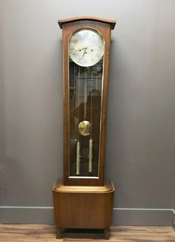 Rare Vintage Daneker Mid Century Floor Clock Walnut 1960s