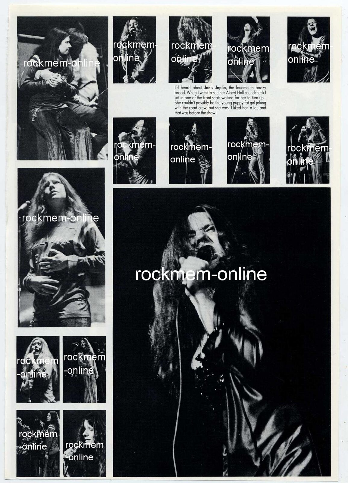 Janis Joplin Big Brother Photo Book Page