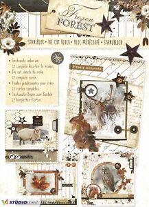 12 Winter Wildlife A4 Die Cut Book 3D Decoupage Card Making Craft NO CUTTING