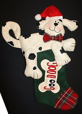 Good Dog Plush Felt Stocking JC Penney Stuffed Animal Christmas 23