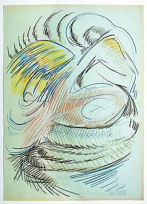 Aquarell Salz (Jakob Salzmann *1942 USA: Adler Inspiration Farbstift + Aquarell 43 x 30 cm)