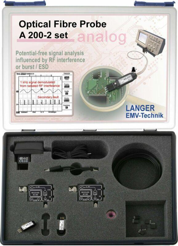 Langer EMV A200-2 Set Optical Fibre Probe 2-channel, 500 kHz EMC Tools and Probe