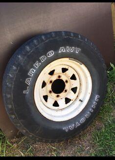 Free wheel rim tyre Toyota  Hilux 6 stud pattern