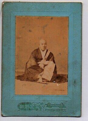 JAPAN: ANTIQUE CABINET PHOTO/ HEAD PRIEST OF THE TAKUMYOJI TEMPLE 1899