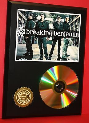BREAKING BENJAMIN ALTERNATIVE 24kt GOLD CD/DISC RARE AWARD QUALITY PLAQUE