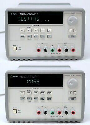 Hp Agilent E3631a Dc Power Supply. Triple Output 6v5a 25v1a Tested. Clean