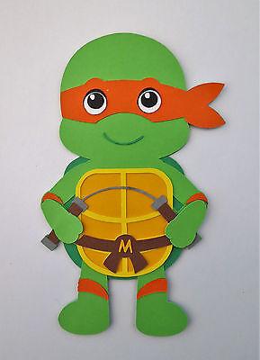 Ninja Turtle Crafts (TMNT Ninja Turtle Mikey Paper Doll Paper Die Cut Scrapbook)