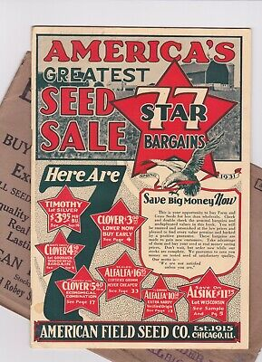 Red Envelope Catalog (1931 VINTAGE AMERICAN FIELD SEED COMPANY CATALOG CHICAGO  34 PAGES)