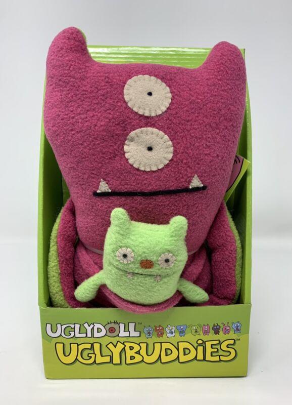 RARE GUND Uglydoll Uglybuddies Bop N' Beep + Jeero Plush Stuffed Animal