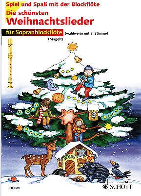 Blockflöte Noten : Die schönsten Weihnachtslieder  leicht   MAGOLT (mit 2. St.)