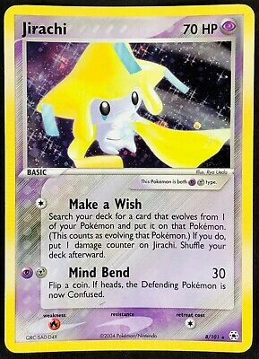 Pokemon Card Jirachi (EX Hidden Legends) 8/101 EXCELLENT Holo Rare TCG!!!!!!!!!!