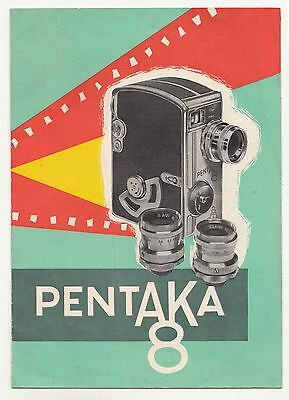 Prospekt Pentaka 8 Filmkamera DDR VEB Kinowerke Dresden !