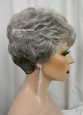 - Short and Sexy CASUAL wig from Sepia/West Bay .. Gray Mix!!   SHAKE 'N GO WIG!