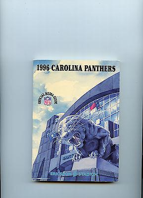 1996 Carolina Panther Media Guide Nfl Ericsson Stadium