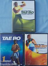 Billy Blanks 3 Pack Tae Bo Cardio Circuit 1 & 2 + Contact 1 Brand New Free Ship!