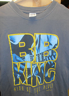 BB King, King of the Blues Concert T-Shirt, Gray, Sized Large BRAND NEW