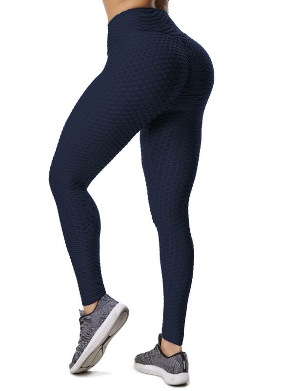 Damen Push Up Leggings Yoga Hose Gym Stretch Jogginghose Legging Lauf Sporthose