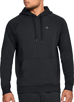 Under Armour Rival Mens Fleece Hoody Black Stylish Gym Training Workout Hoodie