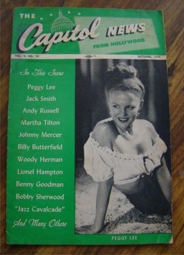 1946 Capitol News Hollywood Magazine Peggy Lee cover Benny Goodman Geechie Smith