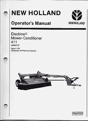 New Holland 411 Discbine Mower-conditioner Operators Manual 42041117