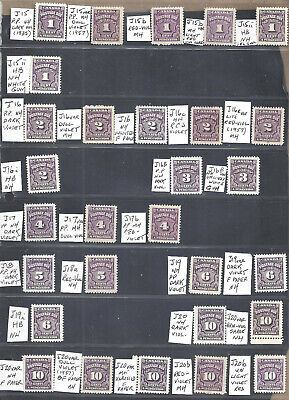 CANADA 29 DIFFERENT 4th ISSUE VIOLET POSTAGE DUES SCOTT J15/J20++ MINT (BS19745)