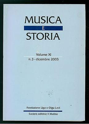 MUSICA E STORIA N. 3 DICEMBRE 2003 IL MULINO AQUILEIA CANTO LITURGICO TRENTO