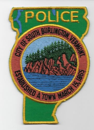 OLD State Shaped SO Burlington Police State Vermont VT
