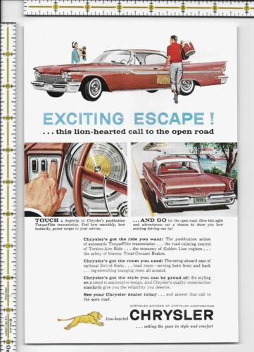 Chrysler automobile car 1959 magazine print ad