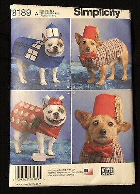 Dr Who Dog Costume (NEW Simplicity Pattern #8189 Dog Costume Doctor Who Tardis Fez Dalek S M L)