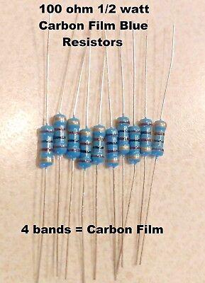 100 Ohm 12watt Blue Carbon Film Resistors 5 You Get 10 Resistors