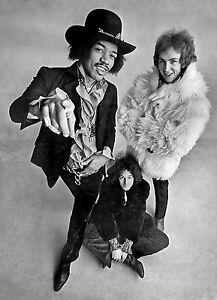 Jimi-Hendrix-Experiencia-Retro-Promocional-blanco-y-negro-Poster