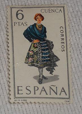 Spain Postage Stamp 1968 6 PTAS Cuenca Correos Provincial Costumes Hinged](Spain Costume)