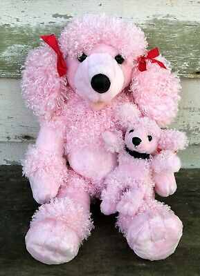 Build A Bear Offers (BUILD-A-BEAR Plush Curly PINK POODLE & Puppy Stuffed Animal w/Outfit)