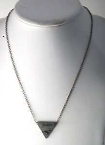 NEW GUESS DESIGNER GUESS ? INC TRIANGLE INDUSTRIAL MEN'S NECKLACE JEWELRY NWT