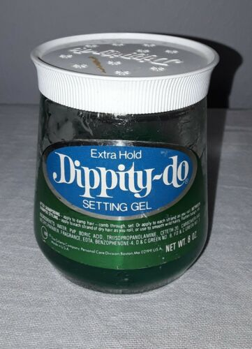 VINTAGE GILLETTE DIPPITY-DO EXTRA HOLD SETTING GEL 8 OZ