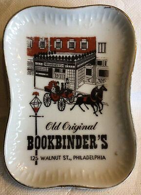 Vintage Ashtray OLD ORIGINAL BOOKBINDER'S Philadelphia PA Advertising Tray