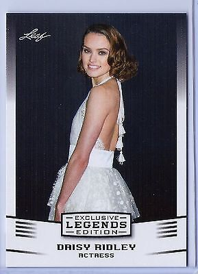 Daisy Ridley  Rey  Leaf Exclusive Legends Card  13  Star Wars   Force Awakens