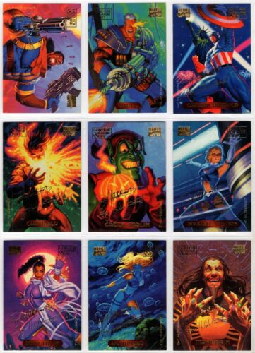 1994 Marvel Masterpieces Gold Foil Signature Series You Pick Finish Your Set