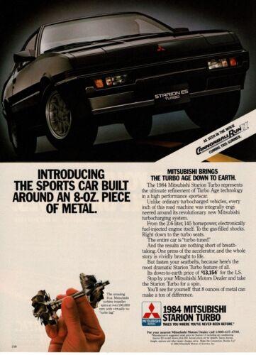 1984 Mitsubishi Starion ES Turbo Black Vintage Ad