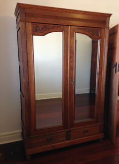 Circa early 1900's Wardrobe with Drawers