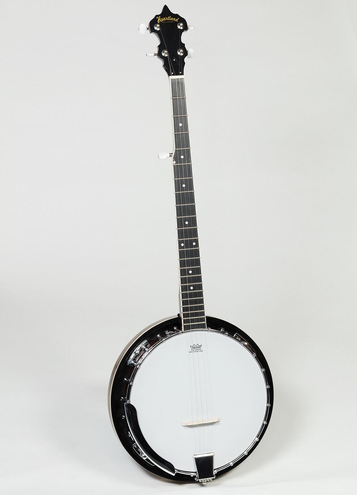 New Heartland Banjo, 5 String Banjo, 4 String tenor Banjo, Tenor Banjo With Case 5 Saiten Banjo mit Hart Case