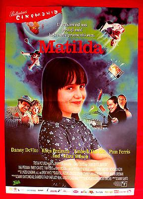 MATILDA 1996 DANNY DeVITO RHEA PERLMAN SERBIAN MARA WILSON UNIQUE MOVIE POSTER