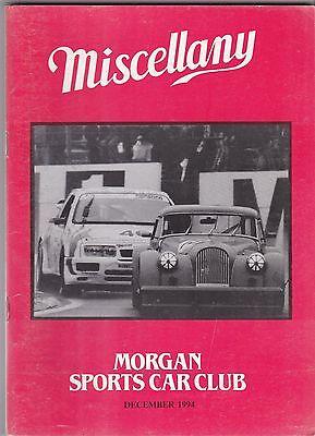MISCELLANY MORGAN SPORTS CAR CLUB MAGAZINE DECEMBER 1994 POST FREE
