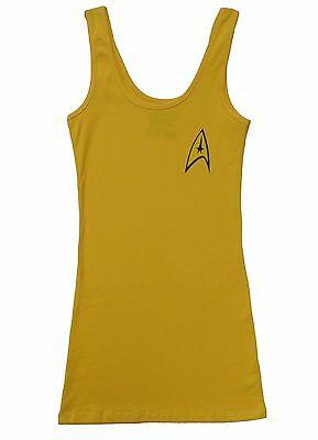Star Fleet Uniforms (Star Trek Star Fleet Gold Command Uniform Tunic Tank)
