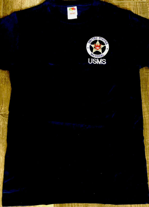S 🇺🇸US Capital Law enforcement T-shirt USMS United States Marshal  Navy Small