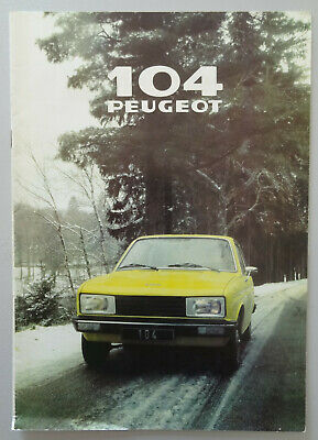V18635 PEUGEOT 104Z - CATALOGUE - 07/78 - A4 - FR FR