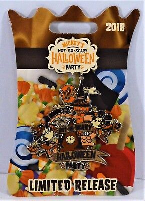 Disney 2018 Not So Scary Halloween Party Mickey & Minnie Logo Pin Limited - Disneys Not So Scary Halloween