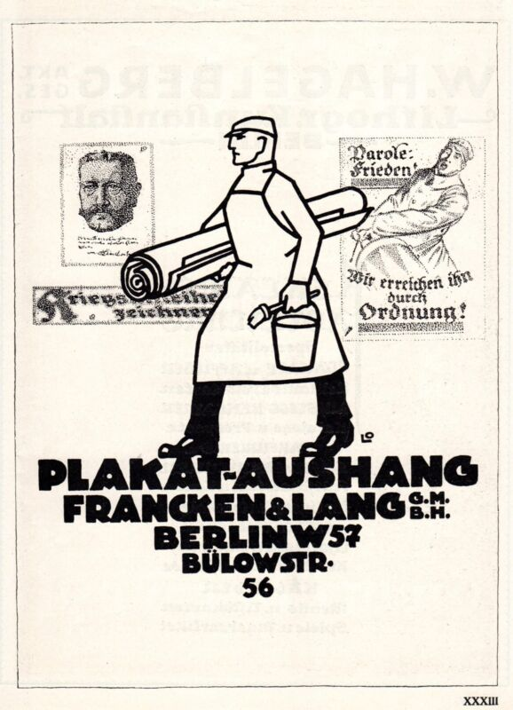 ADVERTISEMENT GRAPHICS FRANCKEN & LANG POSTERS SIGNED LOUIS OPPENMHEIM