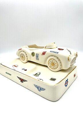 Vintage European Car Ashtray Racing Ceramic Advertising Ferrari MG Austin Jaguar