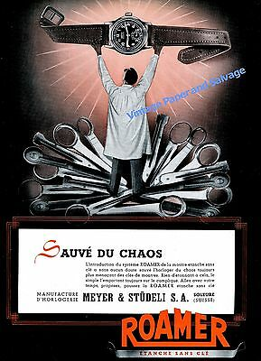 1943 Roamer Watch Company Meyer & Studeli SA Switzerland Swiss Ad Advert Suisse